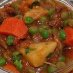 Beef Stew mixed with Waru and Peas