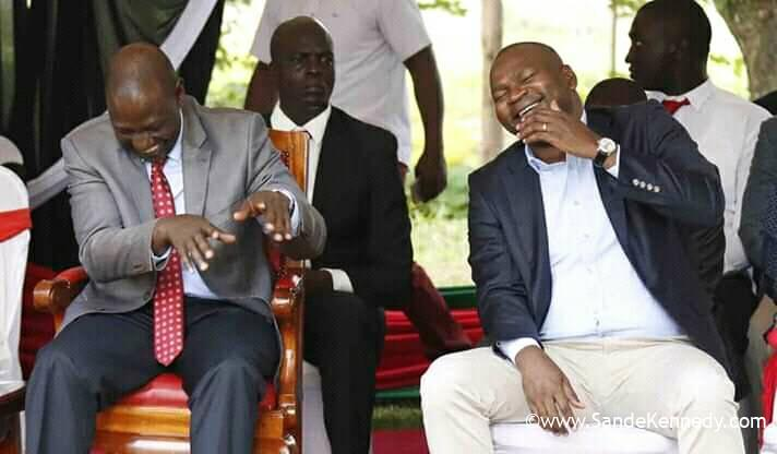 Former CS Rashid Mohamed and Deputy President William Samoei Ruto and other elected leaders in Mumias during the Annual Thanksgiving of ACK.