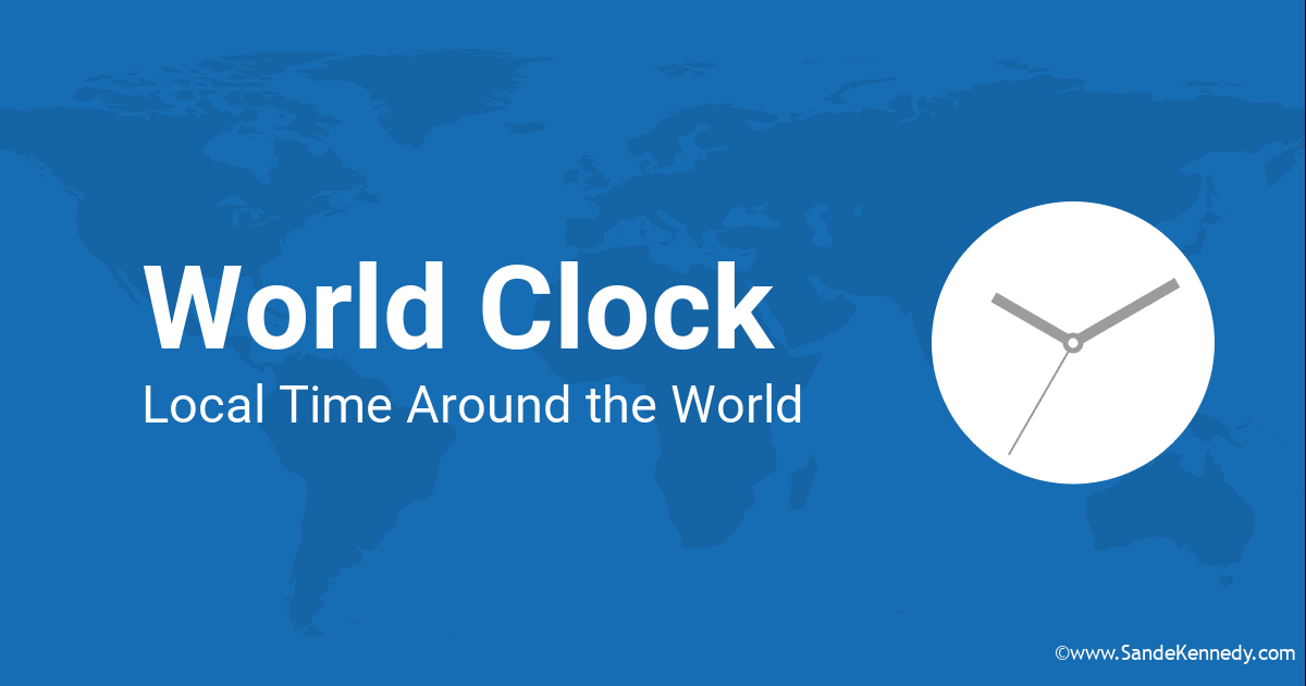 Alphabetical list of countries and territories with their standard time zones